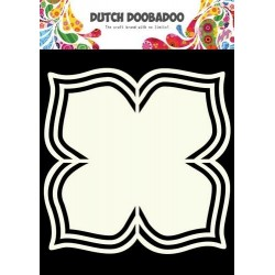 DUTCH DOOBADOO CARD ART FRAMES FLOWER AND 4 LEAVES