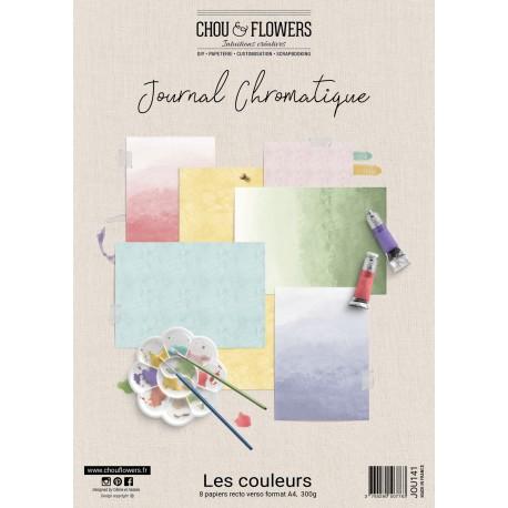 CHOU & FLOWERS KIT PAPIERS A4 IMPRIMES JOURNAL CHROMATIQUE