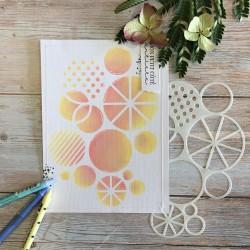 CHOU & FLOWERS POCHOIR A5 CERCLES - JOURNAL CHROMATIQUE