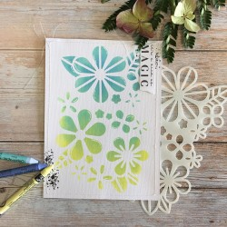 CHOU & FLOWERS POCHOIR A5 FLORAL - JOURNAL CHROMATIQUE