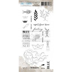 CHOU & FLOWERS TAMPONS CLEAR BLUE JOURNAL CHROMATIQUE