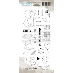 CHOU & FLOWERS TAMPONS CLEAR GREY JOURNAL CHROMATIQUE