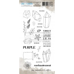 CHOU & FLOWERS TAMPONS CLEAR PURPLE JOURNAL CHROMATIQUE