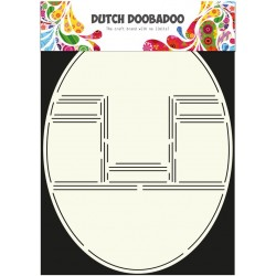 Dutch Doodaboo Dutch CARD ART POP UP CARD OVAL