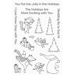 MFT CLEAR STAMPS PUT THE JOLLY IN THE HOLIDAYS