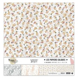 FLORILEGES DESIGN KIT CALQUES, 30,5 x 30,5 cm TERRE DES SENS