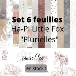 """HA-PI COLLECTION 6 feuilles """"PLURIELLES"""", 30,5 x 30,5cm"""