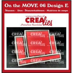 Crealies ON THE MOVE - center step card with square
